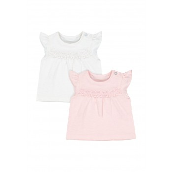 Mothercare Girls Assorted Solid Pack of 2 Tops