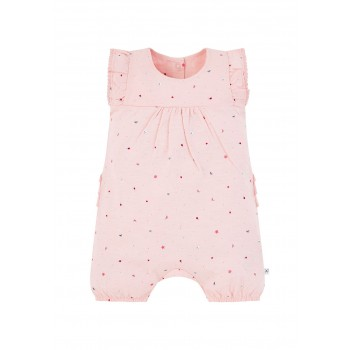 Mothercare Girls Pink Embroidered Romper
