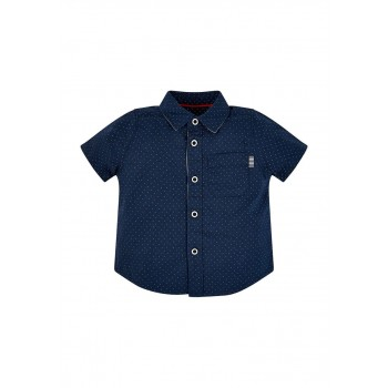 Mothercare Boys Navy Polka Print Shirt