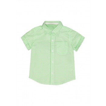 Mothercare Boys Green Checkered Shirt