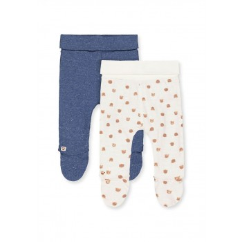Mothercare Boys Assorted Printed Pack of 2 Leggings with Feet