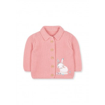 Mothercare Girls Pink Applique Cardigan
