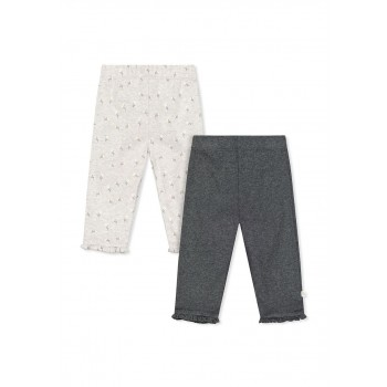 Mothercare Girls Grey Printed Pack of 2 Leggings