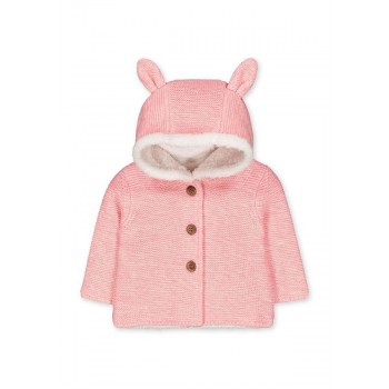 Mothercare Girls Pink Textured Cardigan