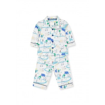 Mothercare Boys White Printed Nightsuit
