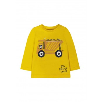 Mothercare Boys Yellow Printed T-Shirt