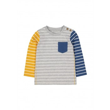 Mothercare Boys Multicolor Striped T-Shirt