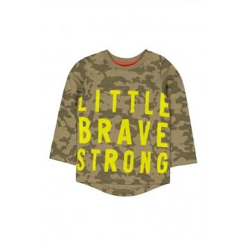Mothercare Boys Green Military Camoflauge T-Shirt