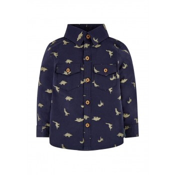 Mothercare Boys Navy Printed Shirt