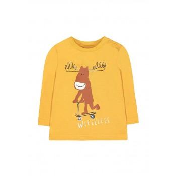 Mothercare Boys Yellow Printed T-Shirt