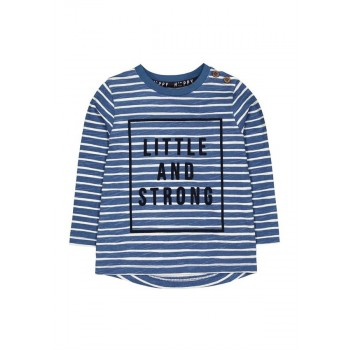 Mothercare Boys Blue Striped T-Shirt
