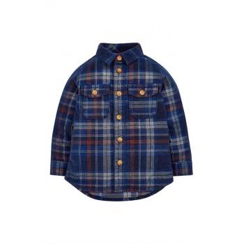 Mothercare Boys Blue Checkered Shirt