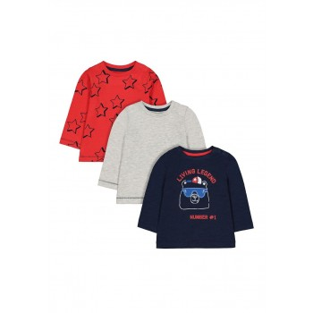 Mothercare Boys Assorted Printed Pack of 3 T-Shirts