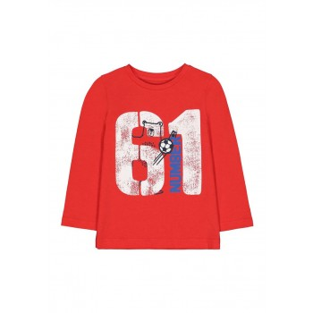 Mothercare Boys Red Printed T-Shirt