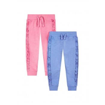 Mothercare Girls Assorted Solid Pack of 2 Joggers