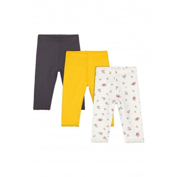 Mothercare Girls Assorted Printed Pack of 3 Leggings