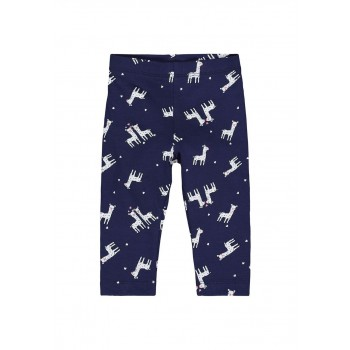 Mothercare Girls Navy Printed Leggings