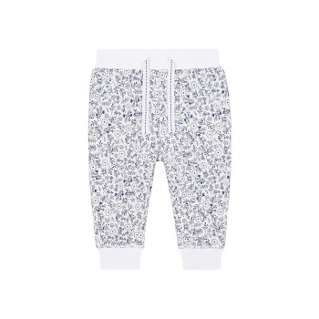 Mothercare Girls White Printed Joggers