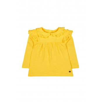 Mothercare Girls Yellow Solid Top