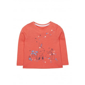 Mothercare Girls Orange Printed T-Shirt