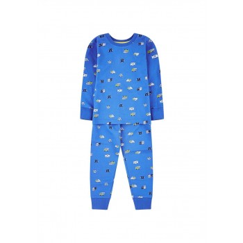 Mothercare Boys Blue Printed Nightsuit