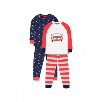 Mothercare Boys Assorted Printed Pack of 2 Nightsuit
