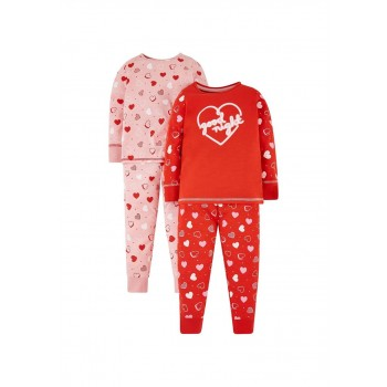 Mothercare Girls Assorted Printed Pack of 2 Nightsuit