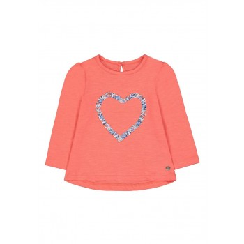 Mothercare Girls Orange Applique T-Shirt