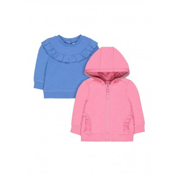 Mothercare Girls Assorted Solid Pack of 2 Sweatshirt