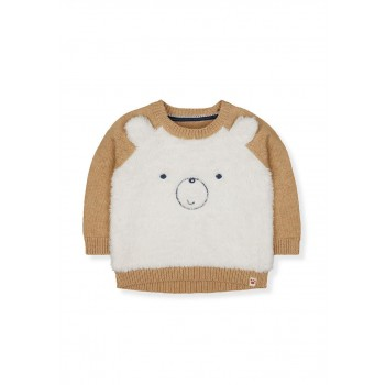 Mothercare Boys Off White Textured Pullover