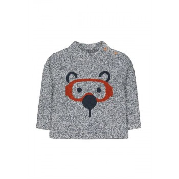 Mothercare Boys Black Textured Pullover