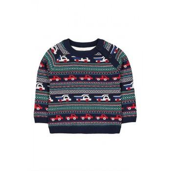 Mothercare Boys Blue Woven Pullover