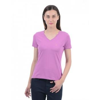 Nautica Casual Wear Solid Women T-Shirt