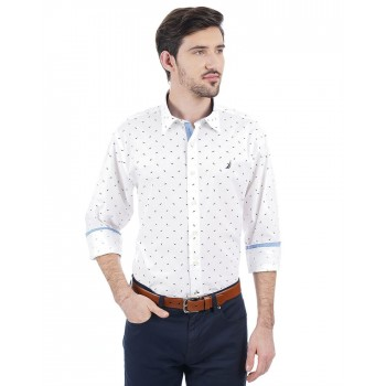 Nautica Men Casual Wear Printed Shirt