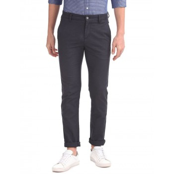 Nautica Men Solid Casual Wear Trousers