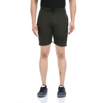 Oneway Men Dark Green Solid  Shorts