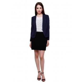Pannkh Women Ethnic Wear Solid Blazer
