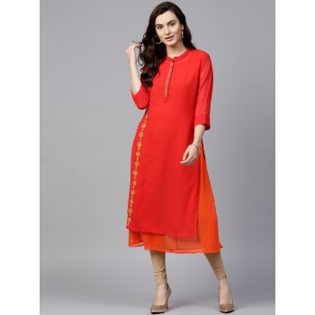 Pannkh Women Ethnic Wear Solid Kurta