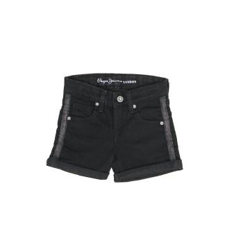 Pepe Kids Girls Black Casual Wear Shorts