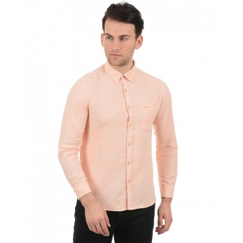 Pepe Jeans Men Casual Wear Orange Shirt