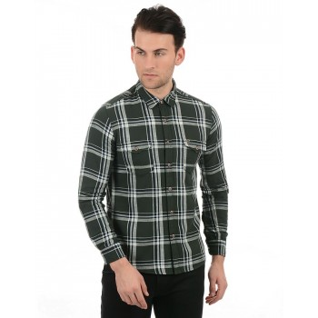 Pepe Jeans Men Casual Wear Green Shirt
