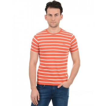 Pepe Jeans Men Casual Wear Orange T-Shirt