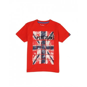 Pepe Jeans Boys Graphic Print Red T-Shirt