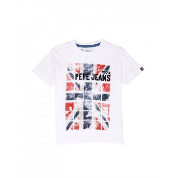 Pepe Jeans Boys Graphic Print White T-Shirt