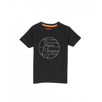 Pepe Jeans Boys Printed Black T-Shirt
