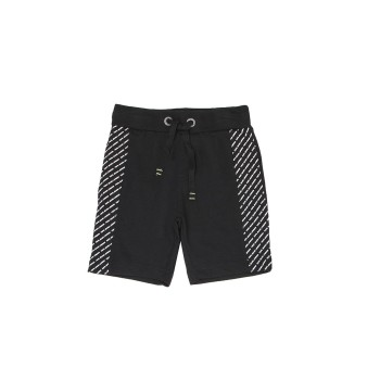 Pepe Jeans Boys Printed Black Shorts