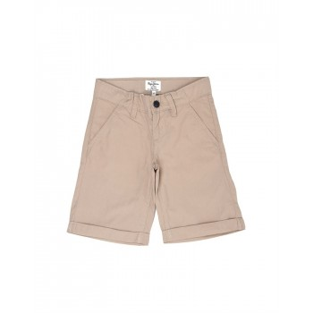 Pepe Jeans Boys Solid Beige Shorts