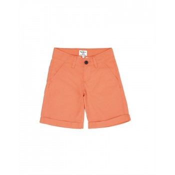 Pepe Jeans Boys Solid Orange Shorts