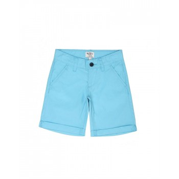Pepe Jeans Boys Solid Blue Shorts