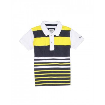 Pepe Jeans Boys Striped Yellow T-Shirt